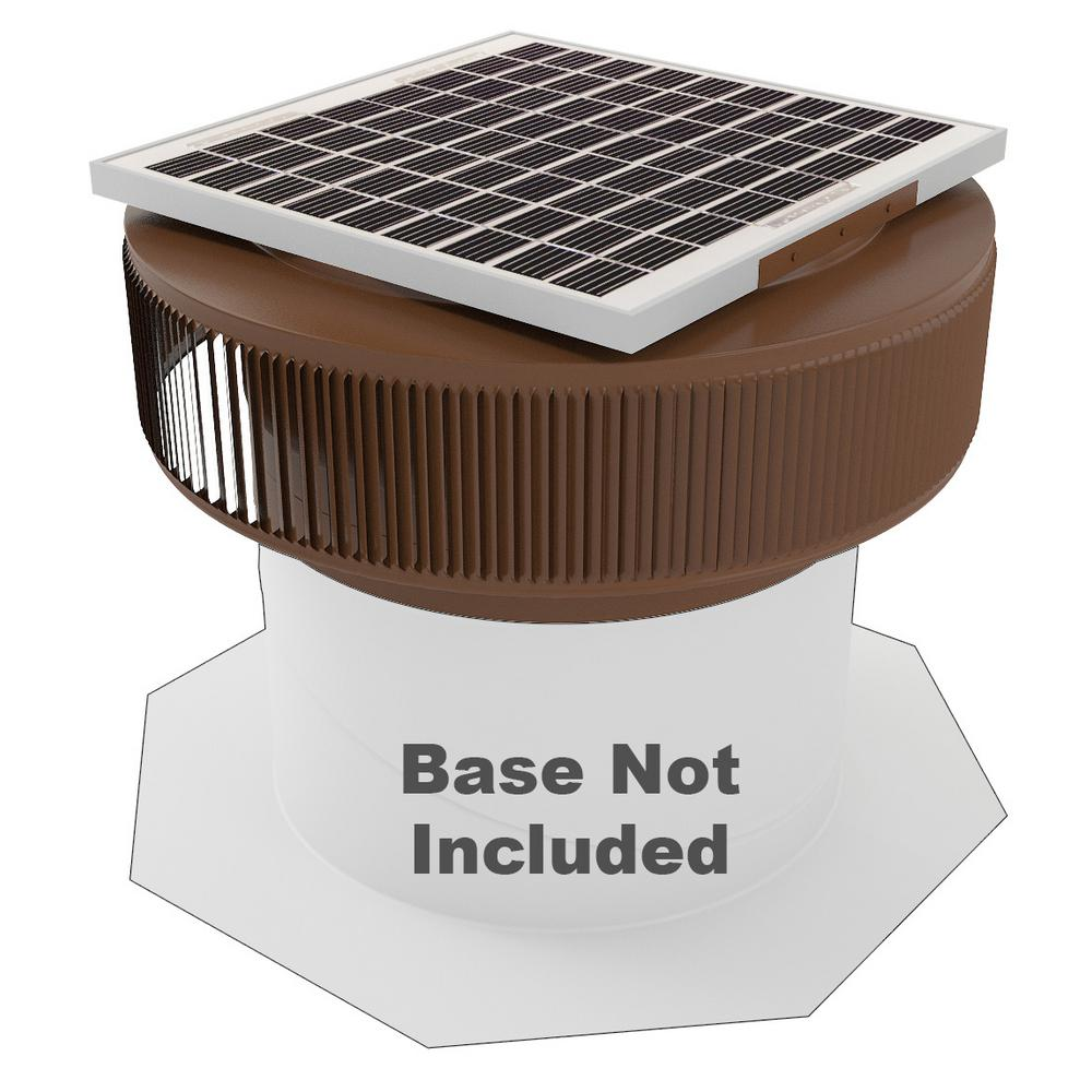 1007 CFM Brown Powder Coated 15-Watt Solar Powered 14 in. Dia
