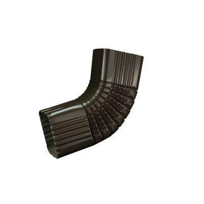 3 in. x 4 in. Dark Bronze Aluminum Downspout B Elbow