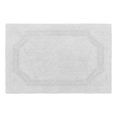 Reversible Light Gray 21 in. x 34 in. Cotton Bath Mat