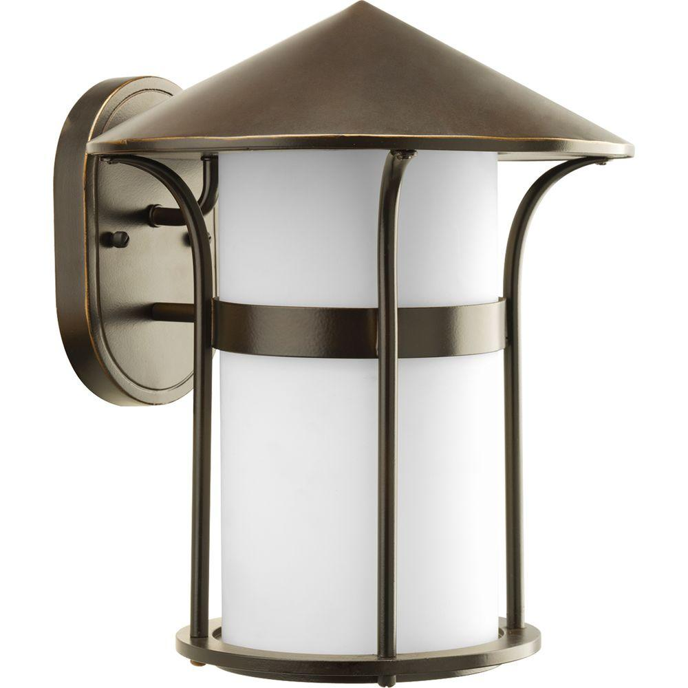 Progress Lighting Welcome Collection 1-Light Antique Bronze Wall Lantern