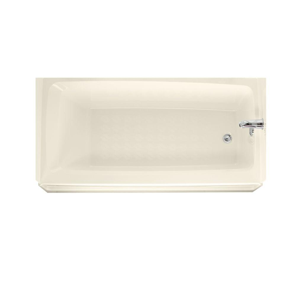null 5 ft. Right Hand Drain Bathtub in Bone