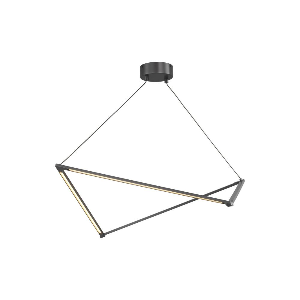 Lbl lighting balto linear 45 watt satin gold integrated led chandelier