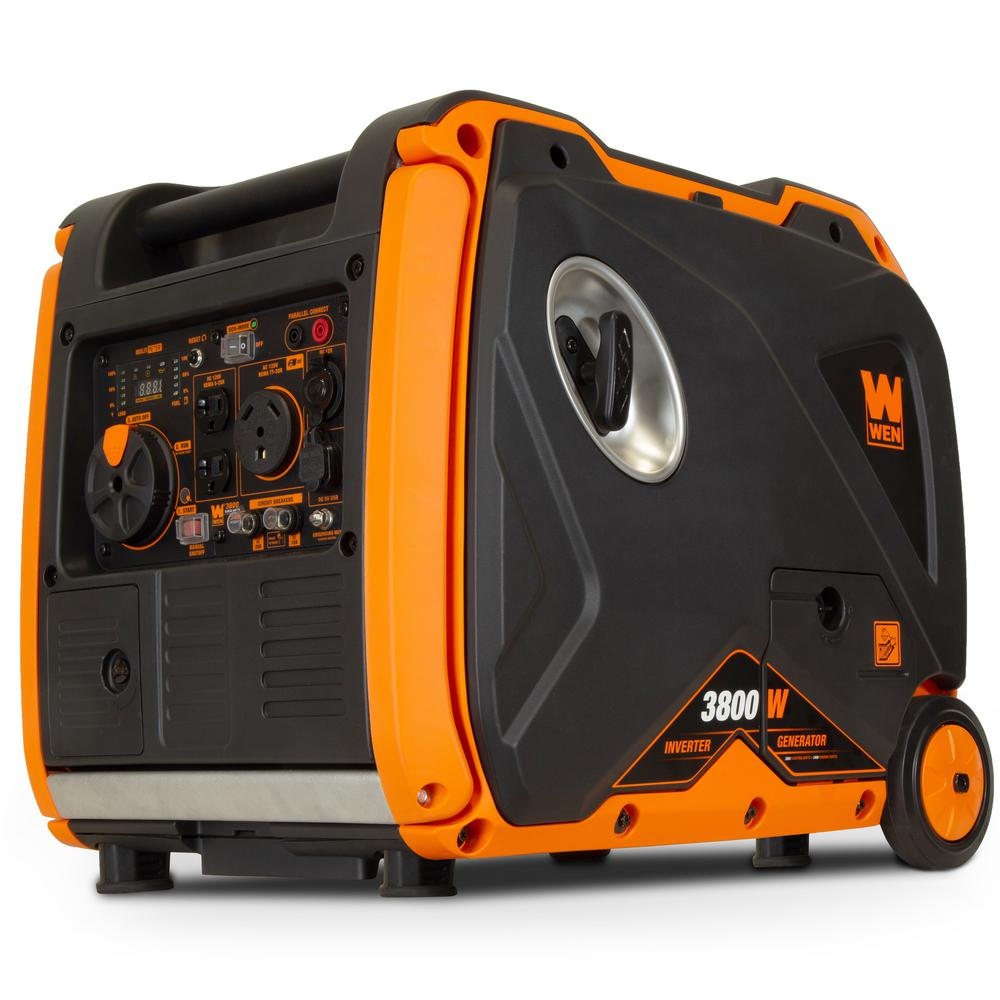 WEN Super Quiet 3800-Watt Gas-Powered RV-Ready Portable Inverter Generator with Fuel Shut-Off and Electric Start