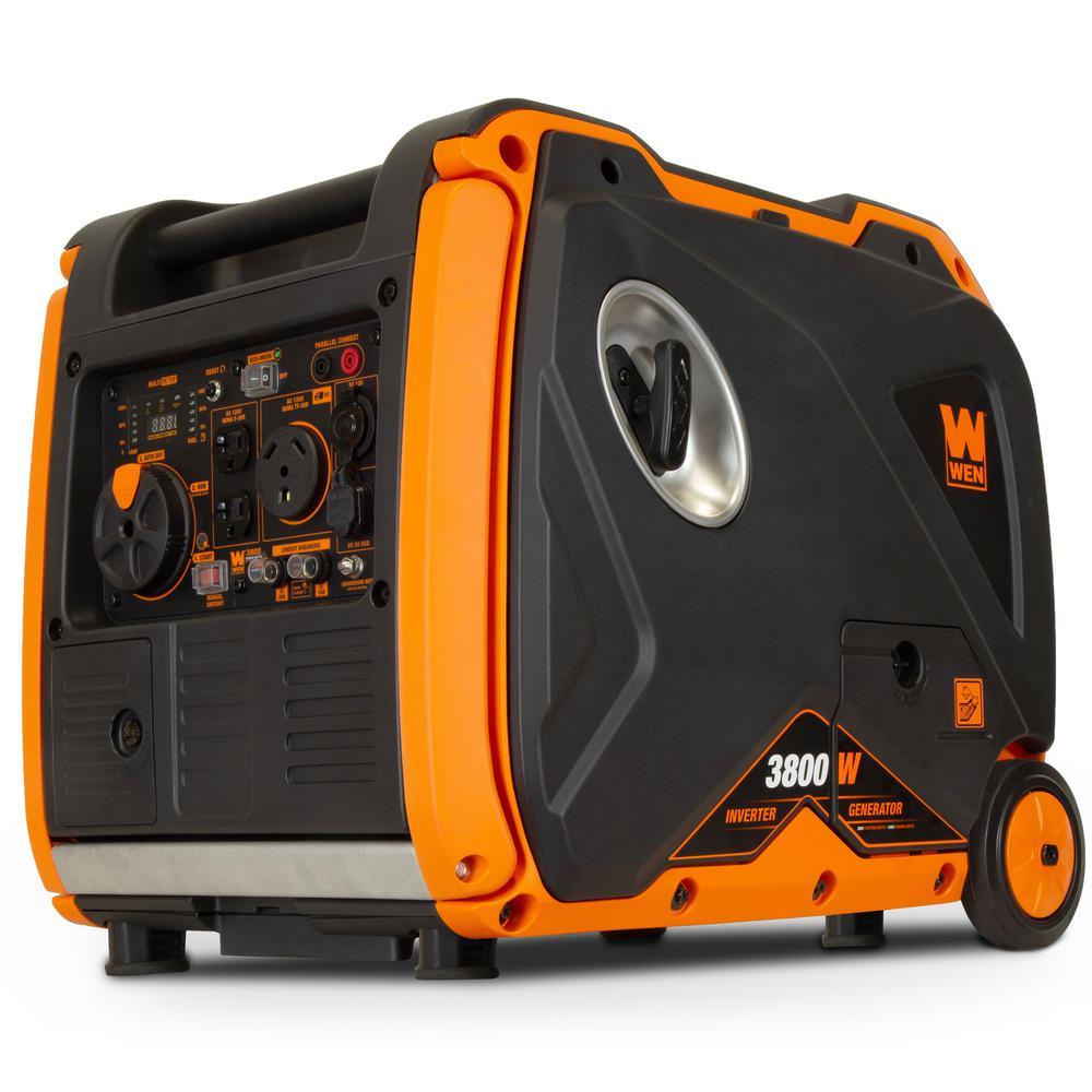 WEN Super Quiet 3800-Watt Gas-Powered RV-Ready Portable Inverter - Sale: $815.83 USD