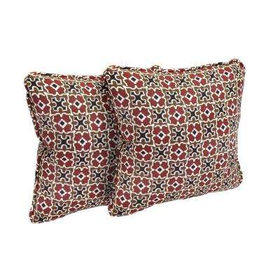 Fall River Red Outdoor Throw Pillow (2-Pack)