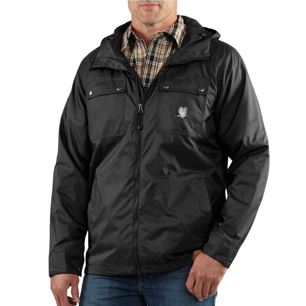 Men's Regular Large Black Nylon  Jackets/Pullovers