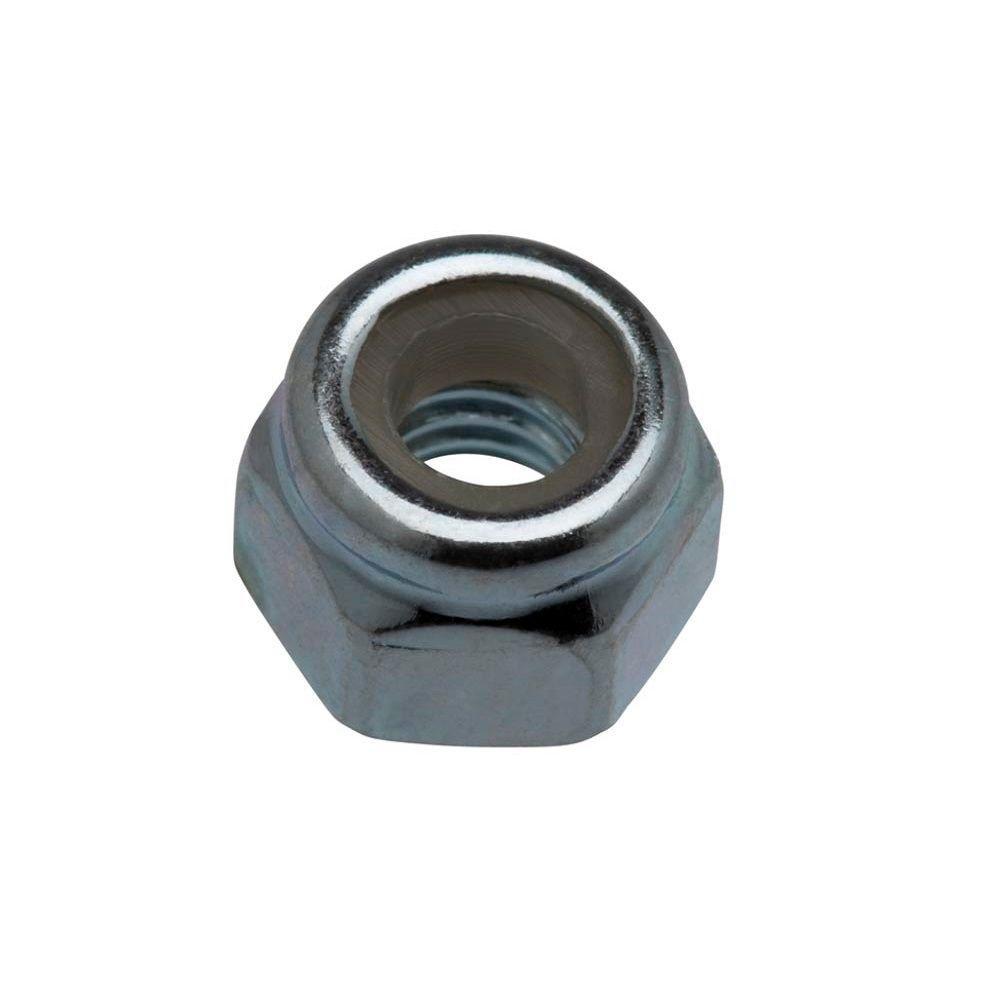 #6-32 Zinc Plated Nylon Lock Nut (100-Pack)