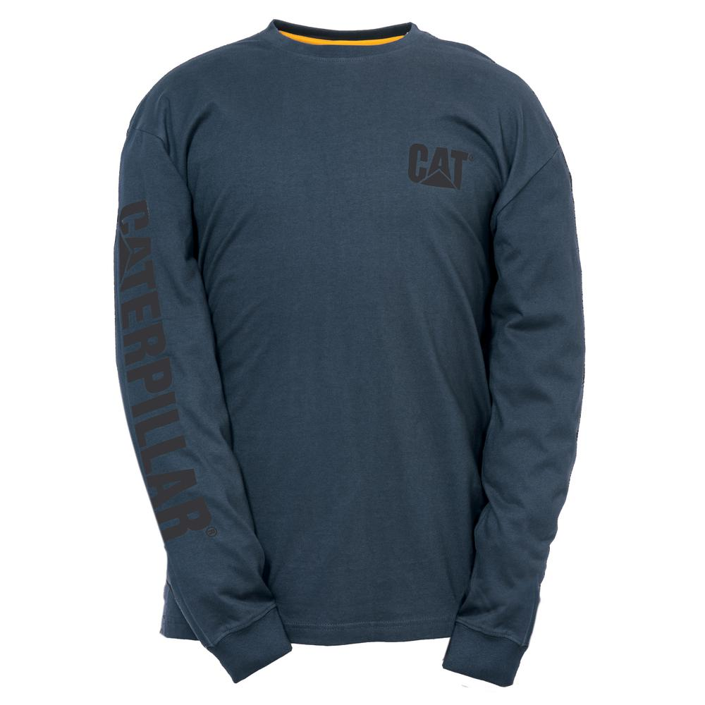 a3ac9b93e47f Trademark Banner Men's Large Dark Marine Cotton Long Sleeved T-Shirt