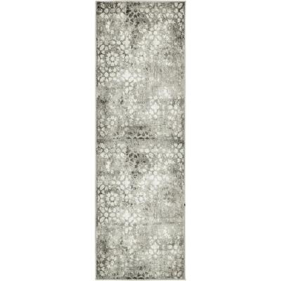 Sofia Larvotto Dark Gray 2' 0 x 6' 7 Runner Rug