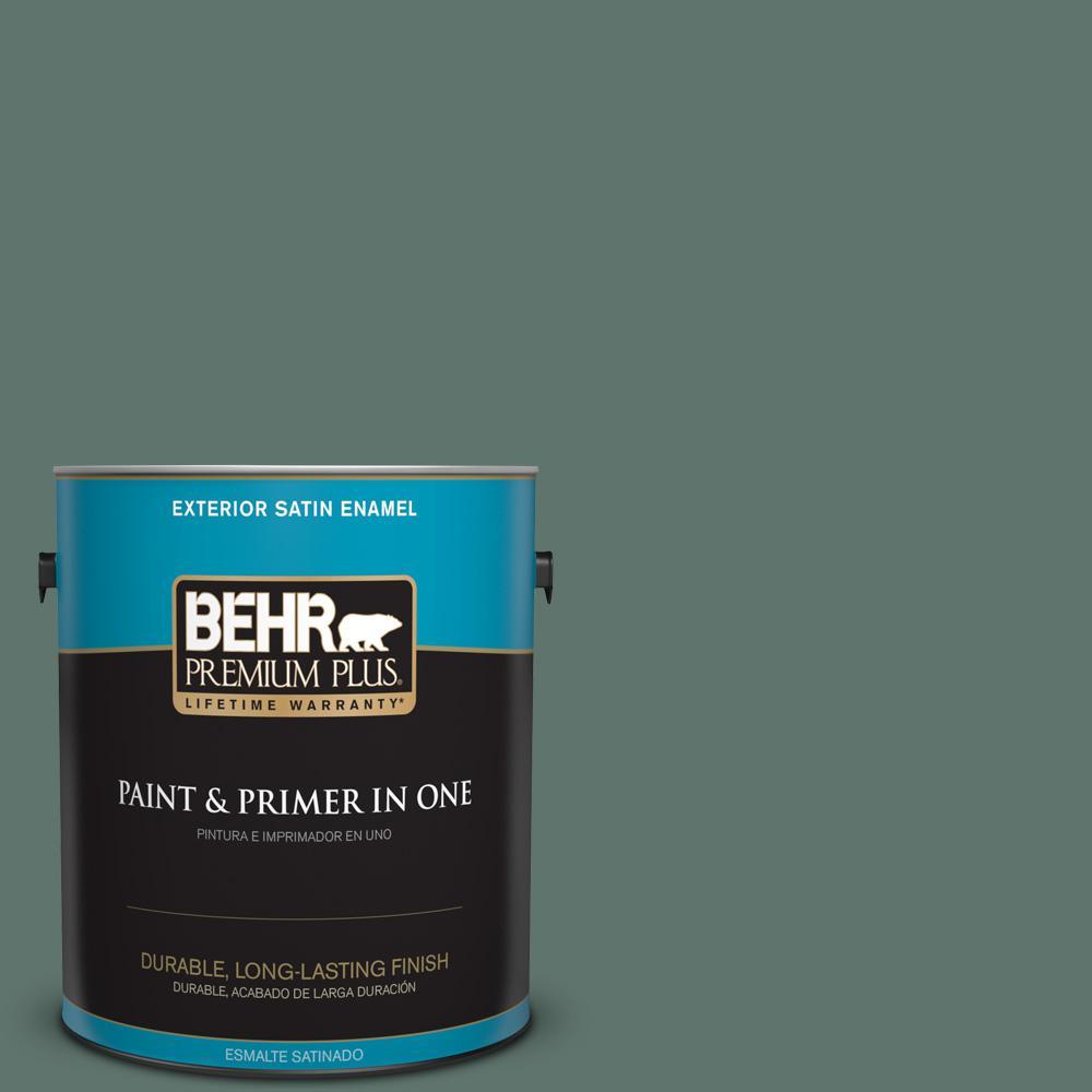 1 gal. #PPU12-17 Cameroon Green Satin Enamel Exterior Paint