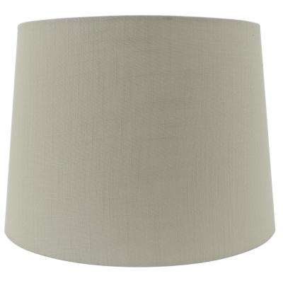 H Tan Linen Hardback Empire Lamp Shade