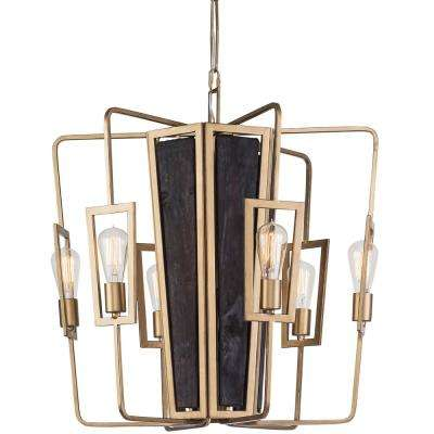 Madeira 6-Light Rustic Gold Chandelier