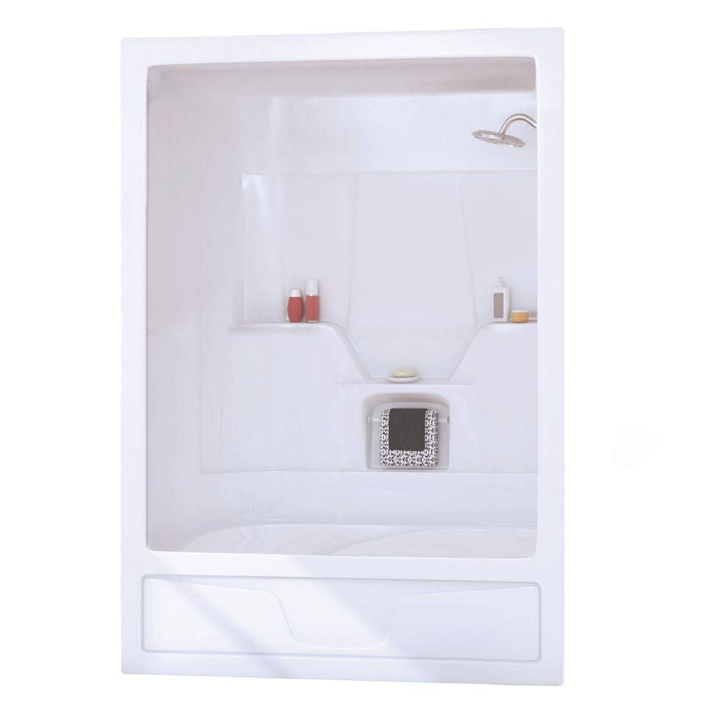 Maax Aspen 31 in. x 60 in. x 85 in. 3-piece Acrylic Bath and Shower ...