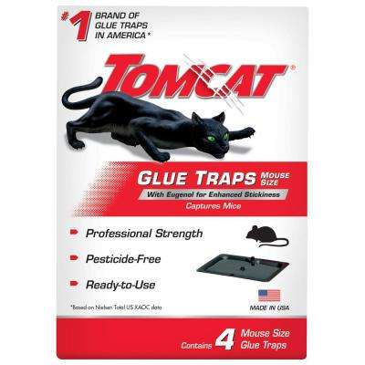 Glue Traps Mouse Size with Eugenol for Enhanced Stickiness (4-Count)