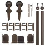 Wright Oil Rubbed Bronze Rolling Door Hardware Kit for 1-1/2 in. to 2-1/4 in. Door