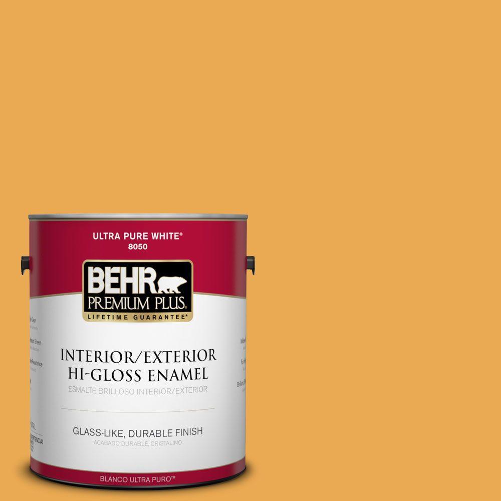 1-gal. #BIC-43 Optimist Gold Hi-Gloss Enamel Interior/Exterior Paint