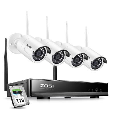 8-Channel 1080p 1TB Hard Drive NVR Surveillance Security Camera System with 4 Wireless Bullet Cameras