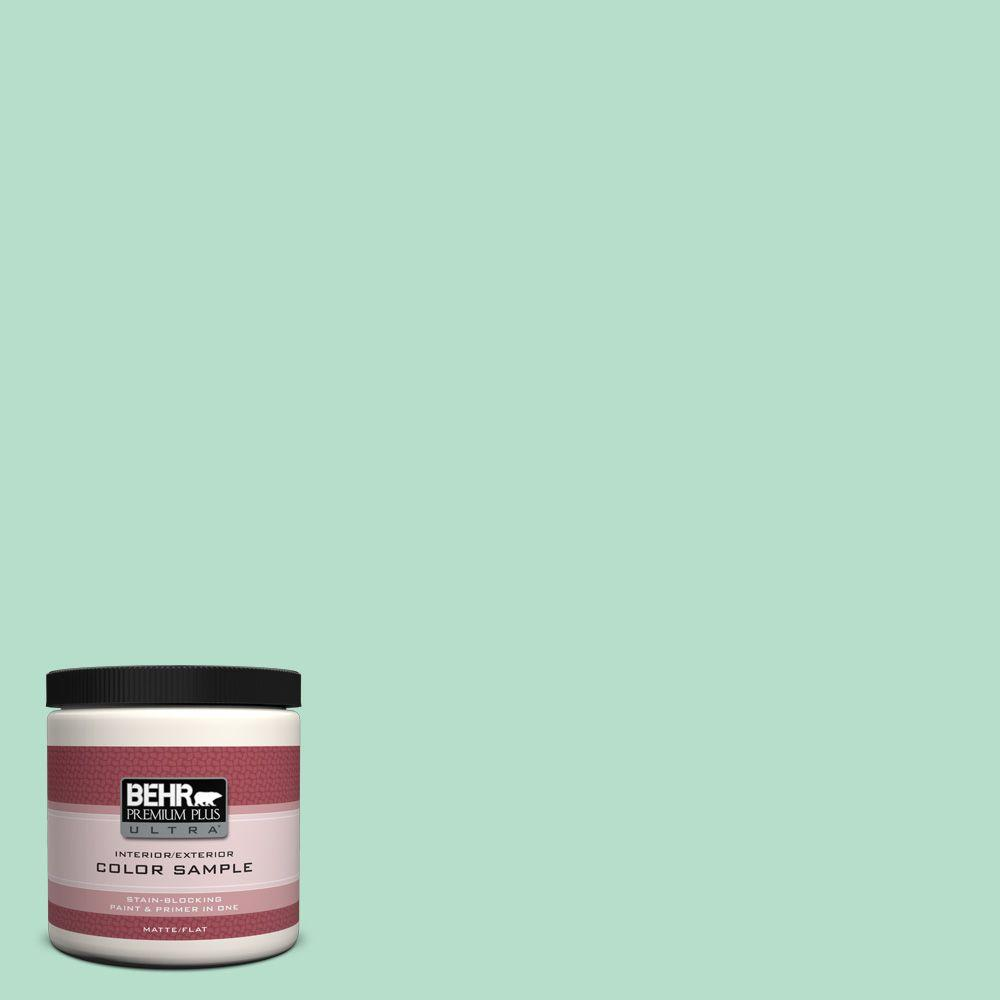 BEHR Premium Plus Ultra 8 oz. #480C-3 Aqua Bay Interior/Exterior Paint Sample