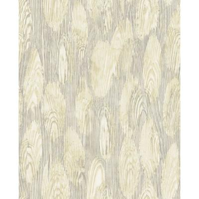 57.8 sq. ft. Monolith Light Yellow Abstract Wood Wallpaper