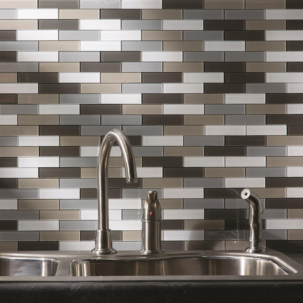 Aspect Subway Matted 12 In X 4 Rustic Clay Gl Decorative Tile Backsplash