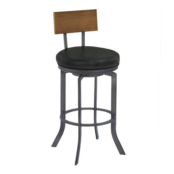 Armen Living Ojai 26 in. Black Bar Stool LCOJBAVB26