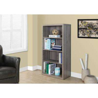 Dark Taupe Adjustable Open Bookcase