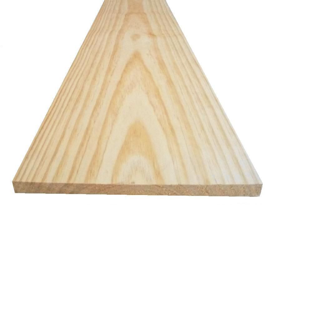 5/4 in. x 4 in. x 6 ft. Select Pine Board-625629 - The Home Depot