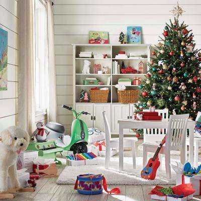 3-Piece White Children's Table and Chair Set