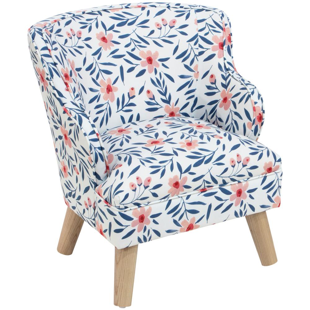Kid's Fiona Floral Porcelain Blush Modern Chair