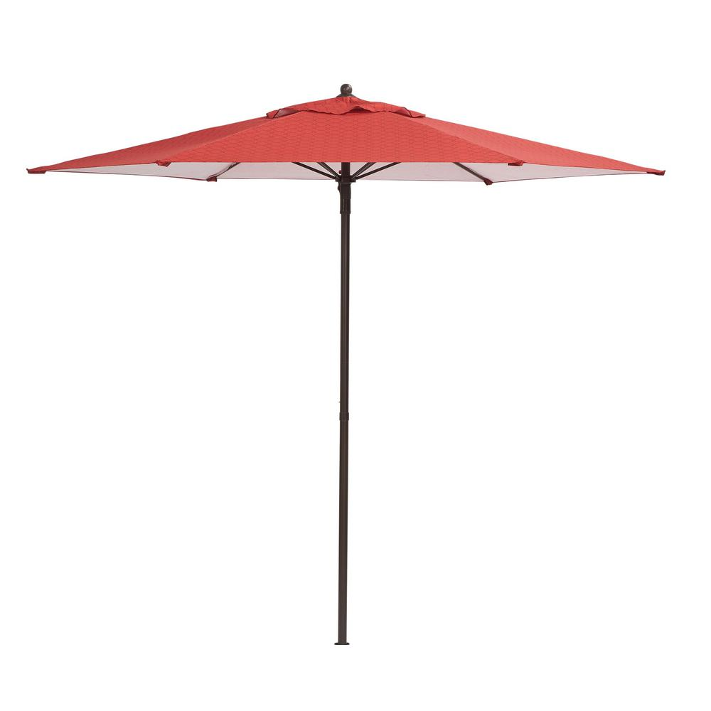 Hampton Bay 7 1/2 Ft. Steel Push Up Patio Umbrella In