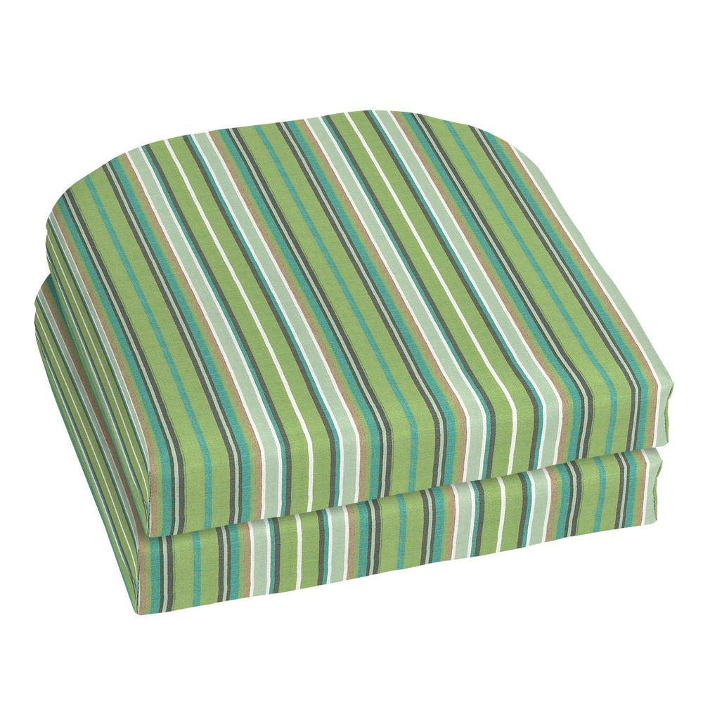 Superbe Home Decorators Collection 18 X 18 Outdoor Chair Cushion In Sunbrella  Foster Surfside (2