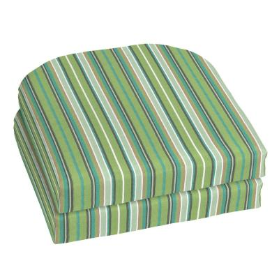 18 x 18 Sunbrella Foster Surfside Outdoor Chair Cushion (2-Pack)