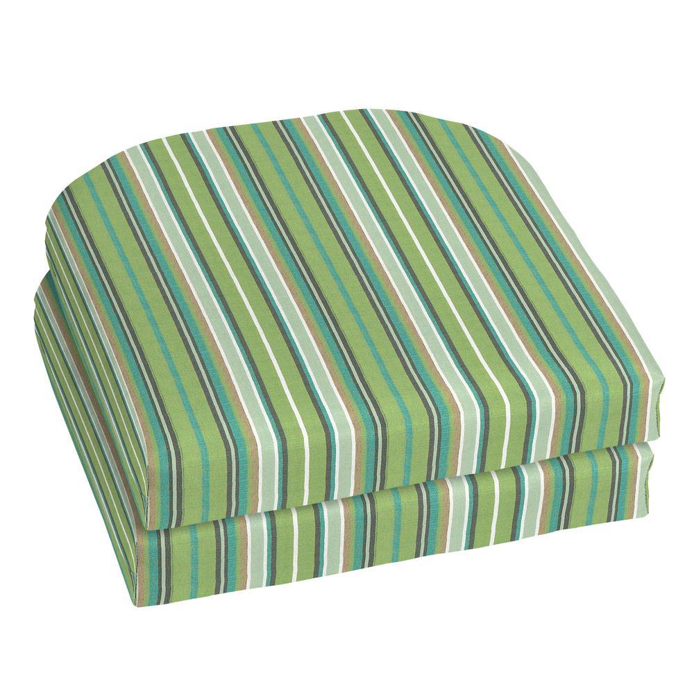 18 x 18 Sunbrella Foster Surfside Outdoor Chair Cushion (2-Pack)