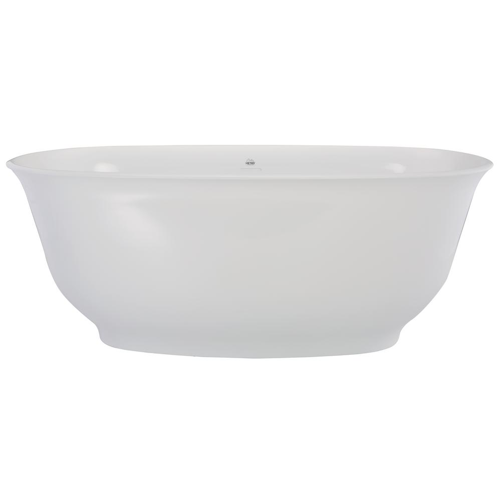 Liberty 5 ft. Solid Surface Flatbottom Non-Whirlpool Freestanding Bathtub in