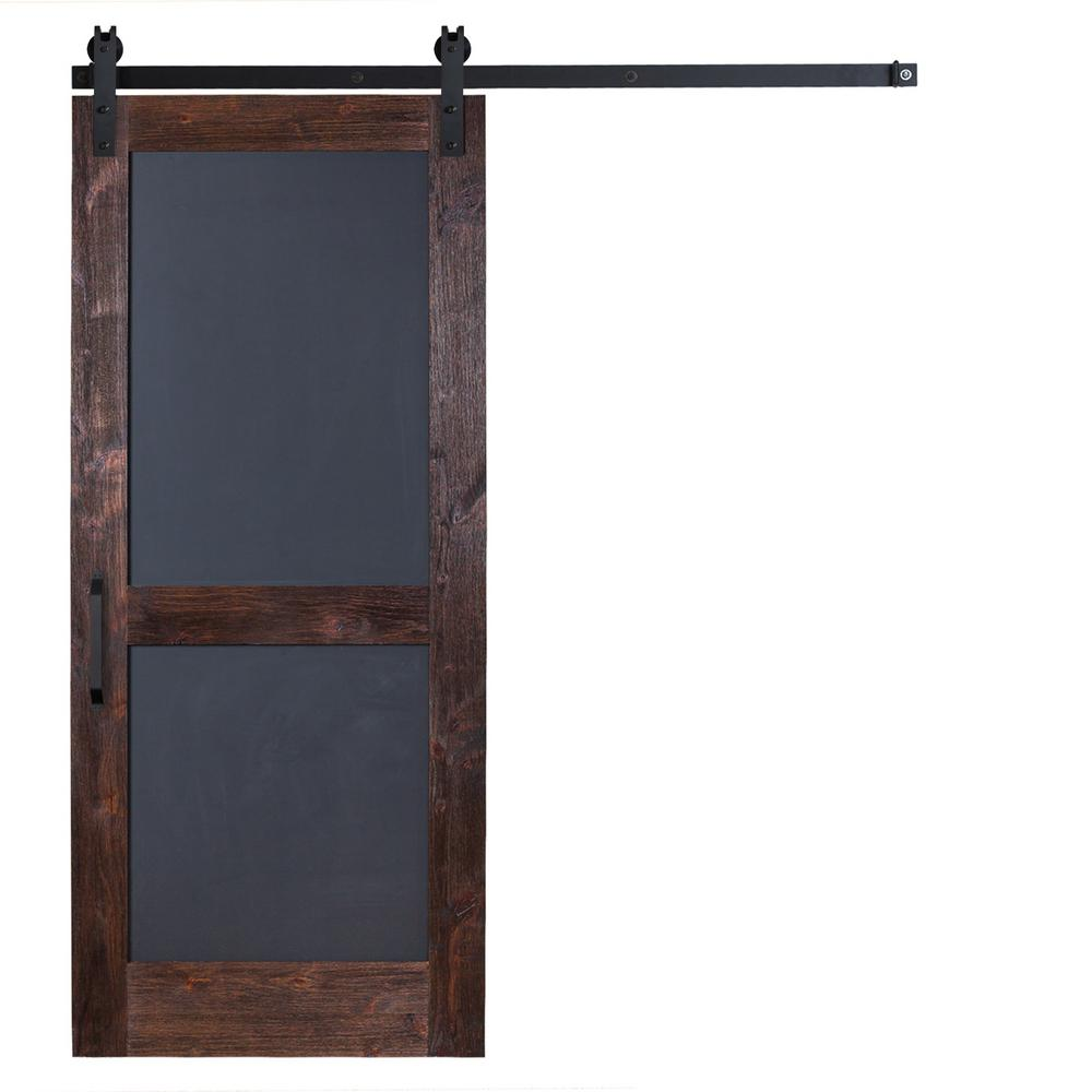 This review is from42 in. x 84 in. Chalkboard Barn Door with Garrick Hardware in Flat Black with Unfinished Header  sc 1 st  The Home Depot & Rustica Hardware 36 in. x 84 in. Chalkboard Barn Door with Garrick ...