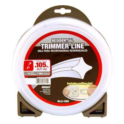 180 ft. Residential 0.105 in. Trimmer Line for Most Gas String Trimmers