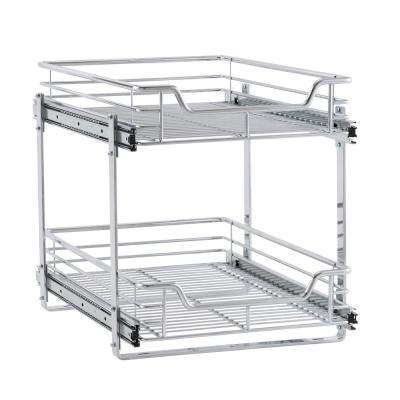 14.5 in. Dual Slide 2-Tier Standard Organizer in Chrome