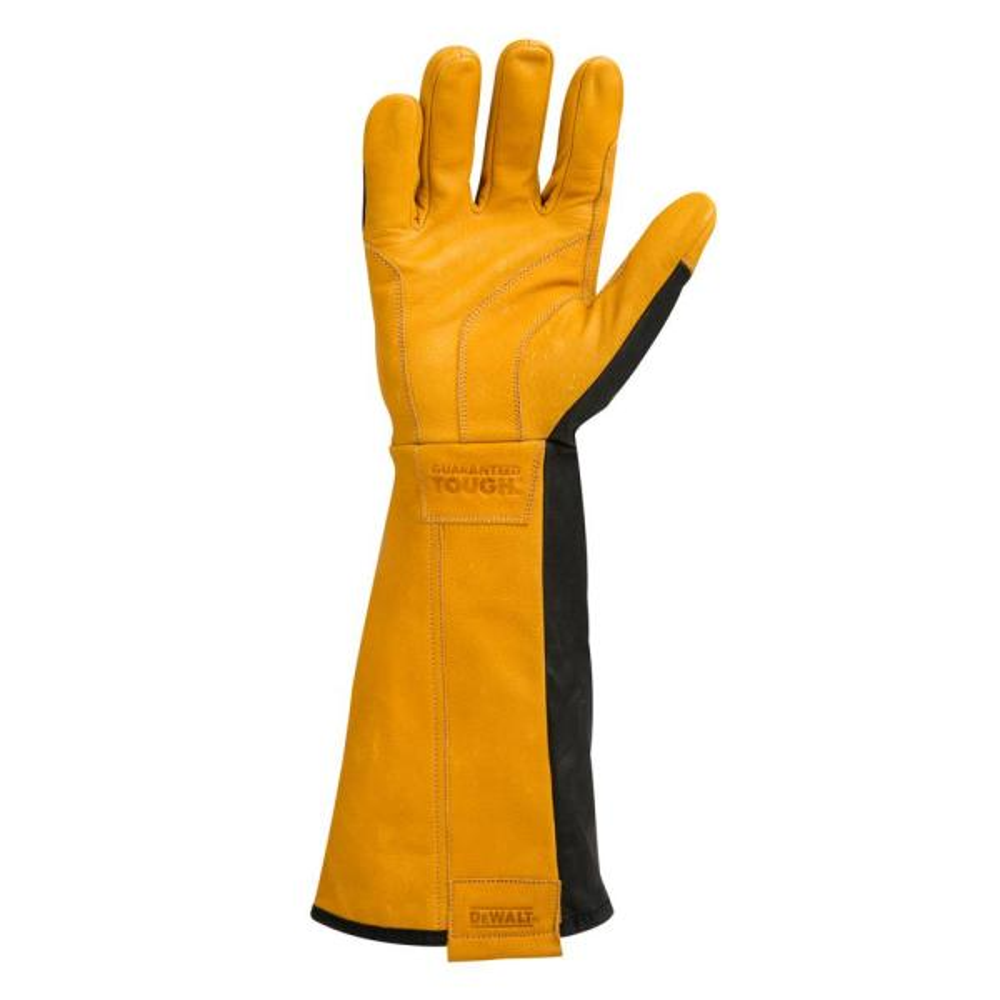 1 Pair Durable Heat Resistant Tig Mig Welding Gloves Welder Gauntlets Orange
