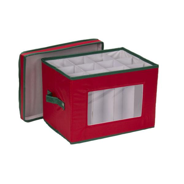 12 Qt Wine Glass Storage Box 544red The Home Depot