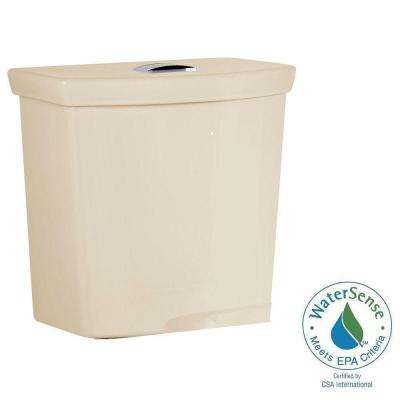 H2Option 0.92/1.28 GPF Dual Flush Toilet Tank Only with Liner in Bone