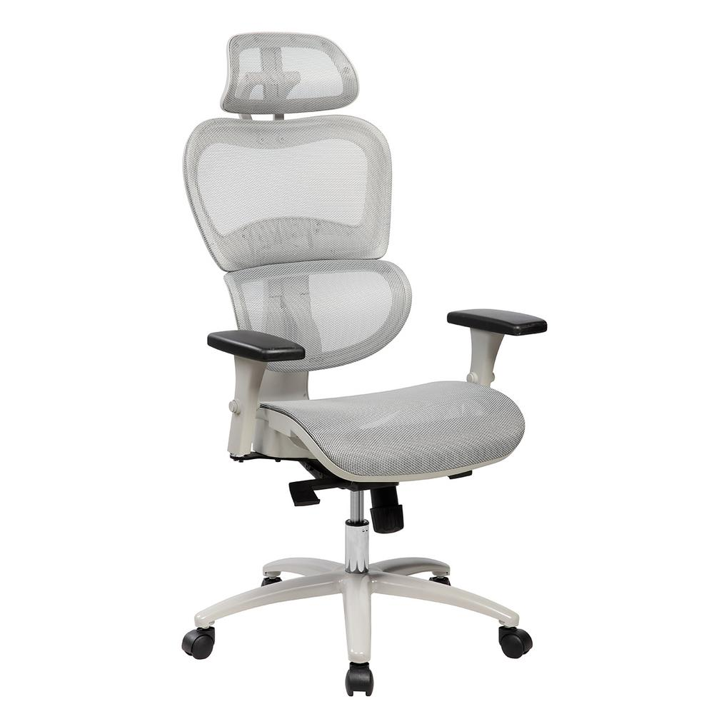 Delicieux Techni Mobili Gray High Back Mesh Office Executive Chair With Neck Support