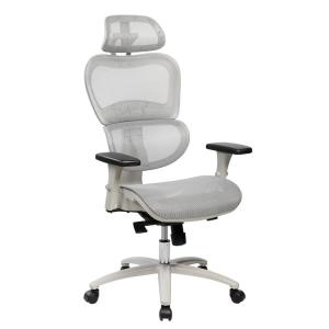 Gray High Back Mesh Office Executive Chair with Neck Support