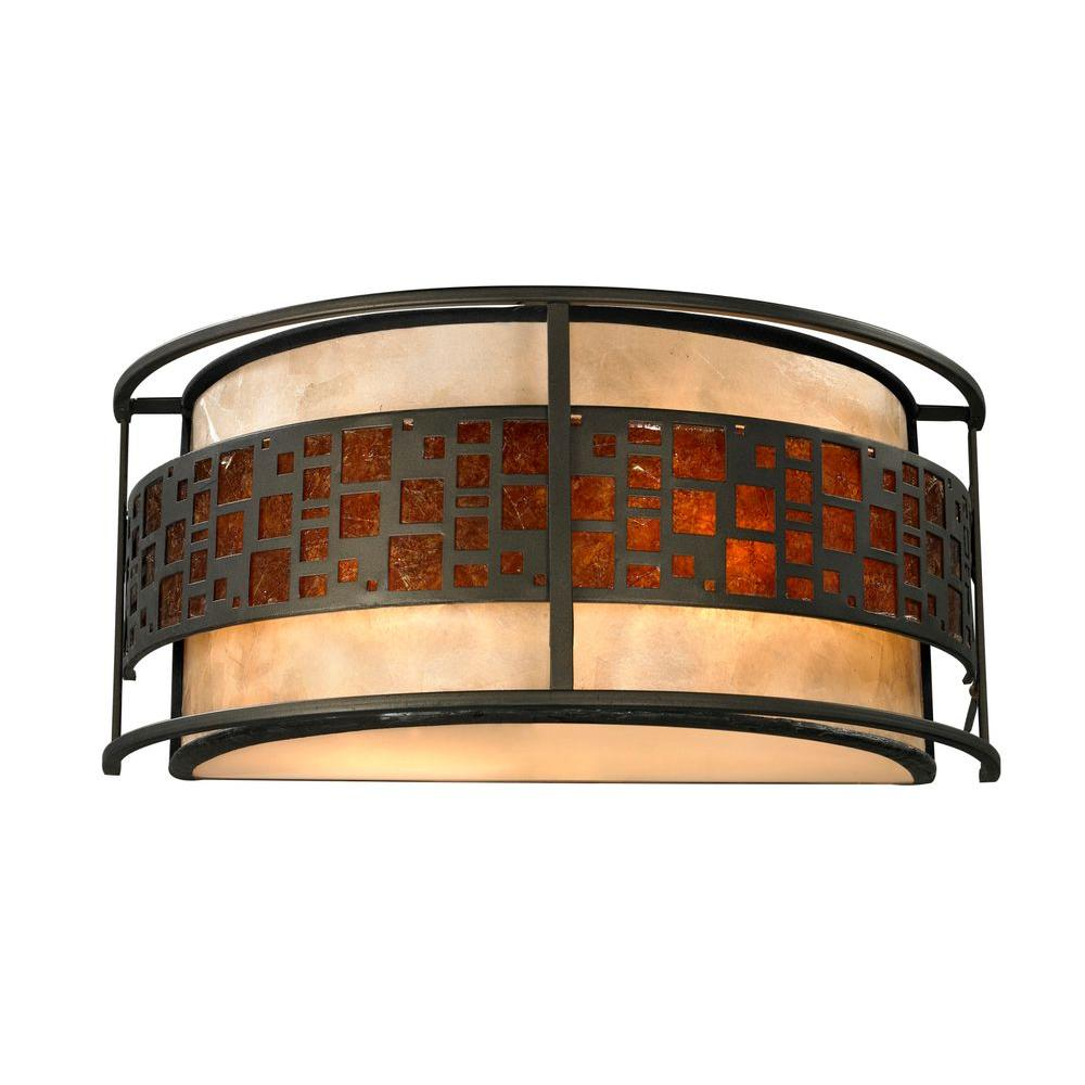 Umber 2-Light Java Bronze Sconce