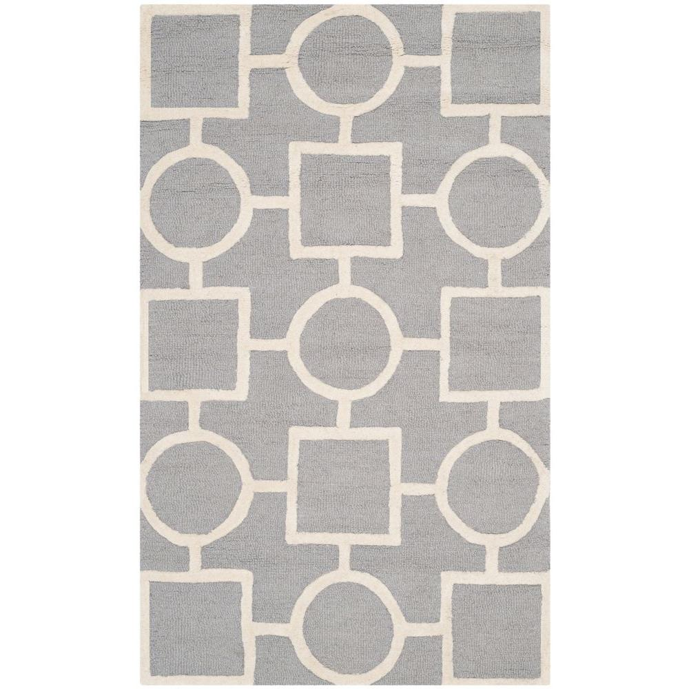 Safavieh Cambridge Silver/Ivory 3 ft. x 5 ft. Area Rug