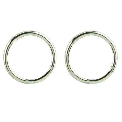 3/16 in. x 1-1/2 in. Nickel-Plated Ring (2-Pack)