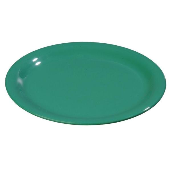 Carlisle 9 in. Diameter Melamine Wide Rim Dinner Plate in Green