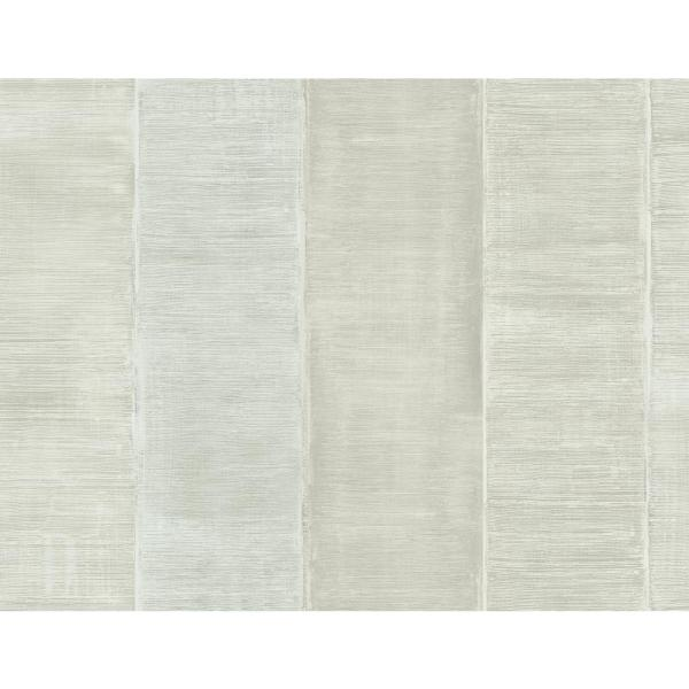 Palladium Metallic Ivory Striped Wallpaper
