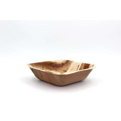Natural Palm Leaf 6 in. Square Deep Bowl (36-Pack)
