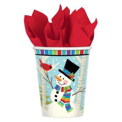 Cocktail 5 in. x 5 in. Paper Christmas Beverage Napkins (16-Count, 5-Pack)
