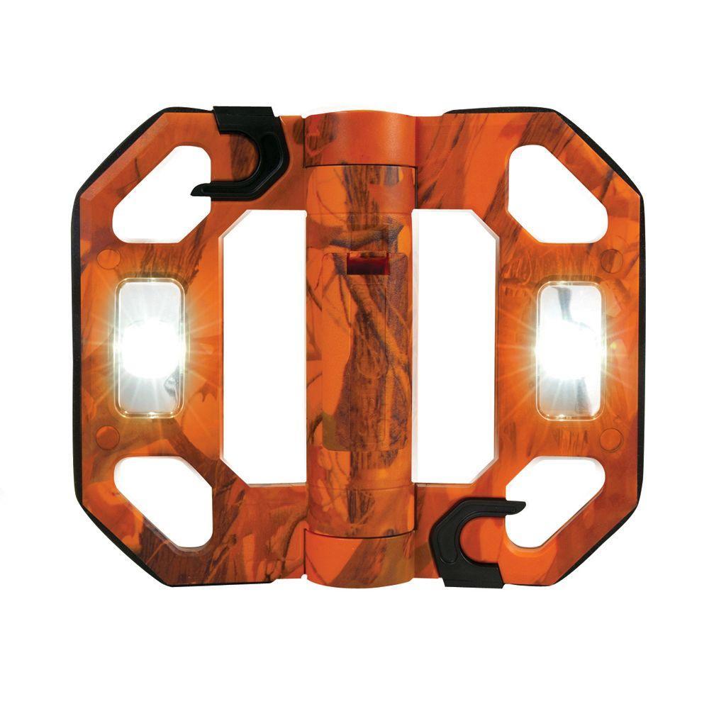 200-Lumen Mini Compact Folding LED Work Light - Orange